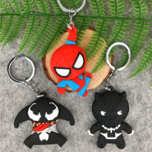 Marvel supereroe spider-man black panther 3D portachiavi regalo keychain del pendente del regalo di chrismas(China)