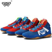 Профессиональная детская обувь для борьбы, боксерская обувь, Многоцелевая спортивная обувь, размер 32-38 для вольной борьбы