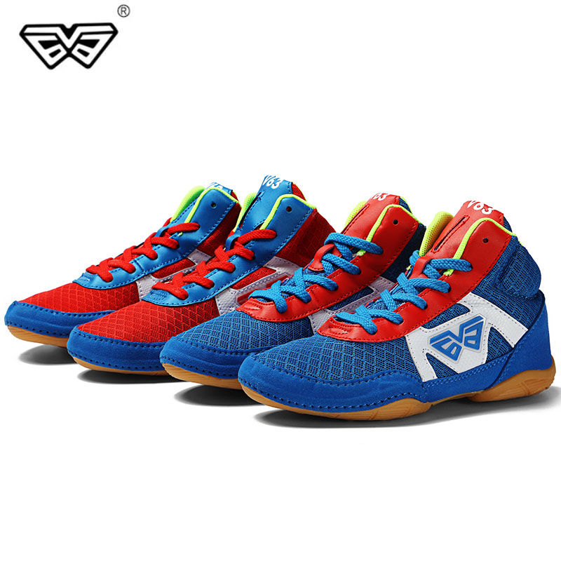 Professional Kid Wrestling Shoes,Boxing Shoes,Multi-purpose Sports Shoes,Size 32-38 for Freestyle Wrestling