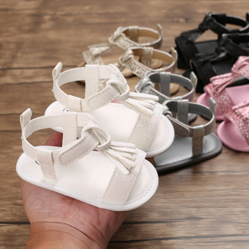 Baby Newborn Girls Boys Soft Sole Tassels Shoes Baby Toddler Prewalker Sandals 0-18M Clothes