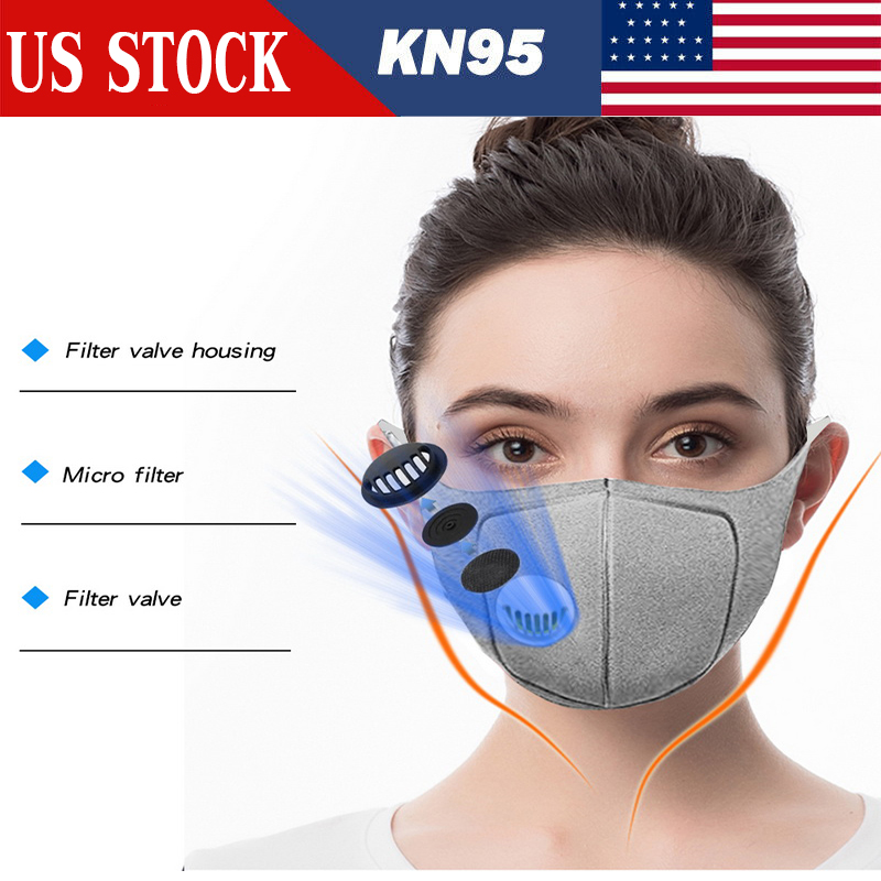 PM2.5 Mouth Mask Anti Dust Sponge Mask Activated Carbon Filter Windproof Mouth-muffle Bacteria Proof Flu Face Masks Care 10PCS