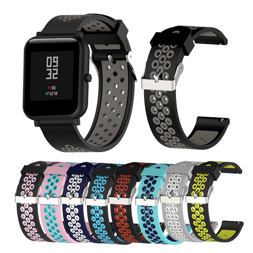 Silicone Strap For Huami Xiaomi Amazfit Bip Youth Smart Watch Band Colorful Sport Wristband For Galaxy Watch Active Watchband