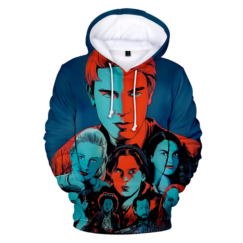 new Popular movie Riverdale Season 4 cosplay 3D printing Anime character adult jacket with hat Hoodie Sweatshirt coat clothing image