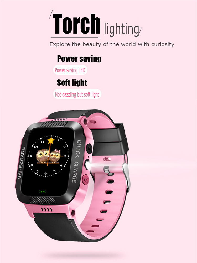Smart Watch Kids Touch Screen Camera Positioning For Children's Watches SOS Call Location Anti-Lost Reminder Baby Watch Clock