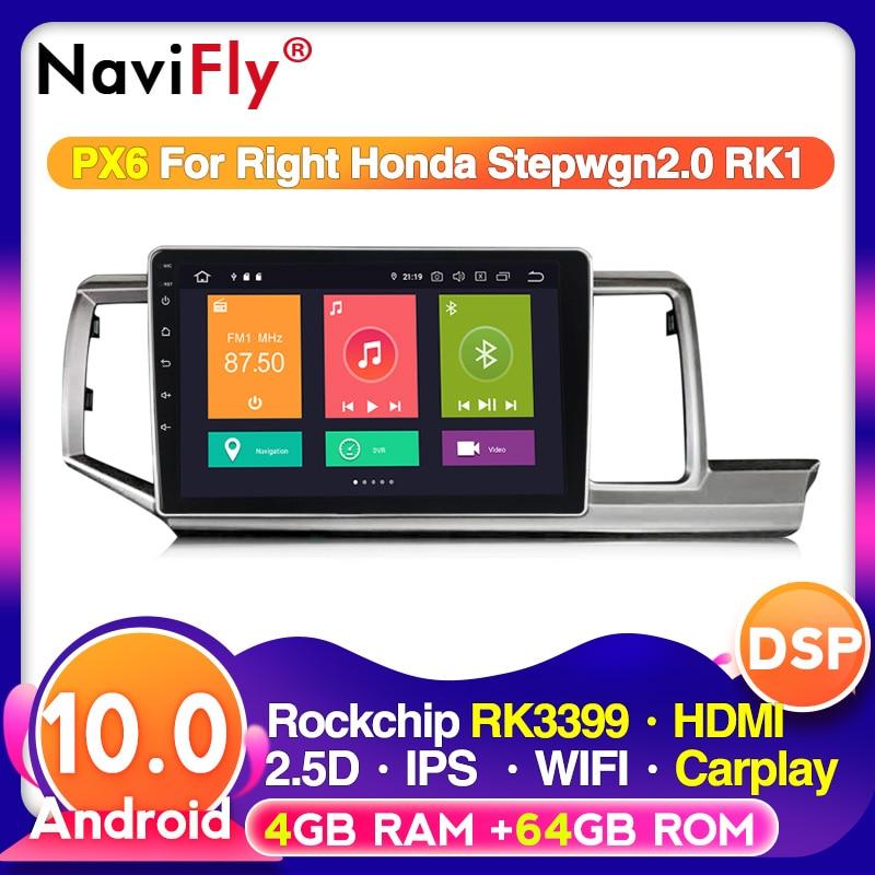 1024x600 hd 4g ram 64g rom 4g lte android 10 para honda stepwgn 2009-2015 multimídia estéreo carro dvd player navegação gps rádio