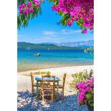 Bela grécia praia diy pintura diamante grécia costa diamante bordado grécia mar ponto cruz strass mosaico pintura