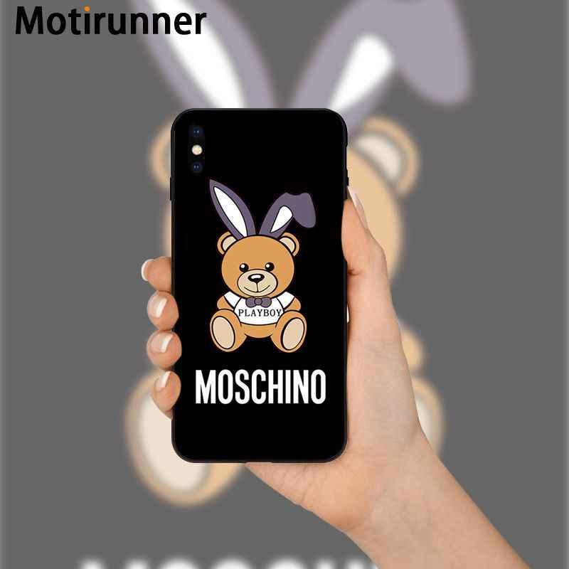 Motirunner Italiaanse Luxe Merk Hoge Kwaliteit Siliconen Telefoon Case Voor Iphone 11 Pro Xs Max 8 7 6 6S plus X 5 5S Se Xr SE2020