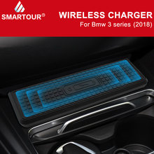 For BMW 3 Series F30 F31 F82 F32 F34 F36 car QI wireless charger fast charging module cup holder panel accessories for iPhone(China)