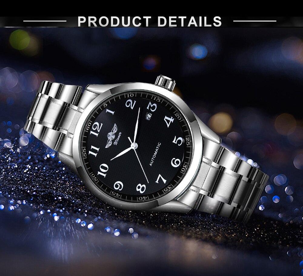 pulseira de couro masculino relógios data exibição