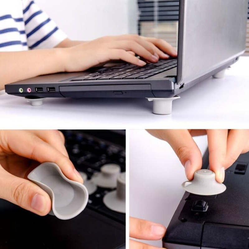 4pcs/lot Notebook Accessory Laptop Heat Reduction Pad Cooling Feet Stand Holder Desk Set