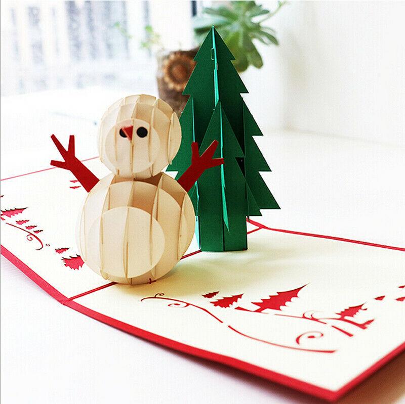 Musique 3D Pop Up Cartes de vœux de Mariage Noël carte postale cadeau NOUVEAU