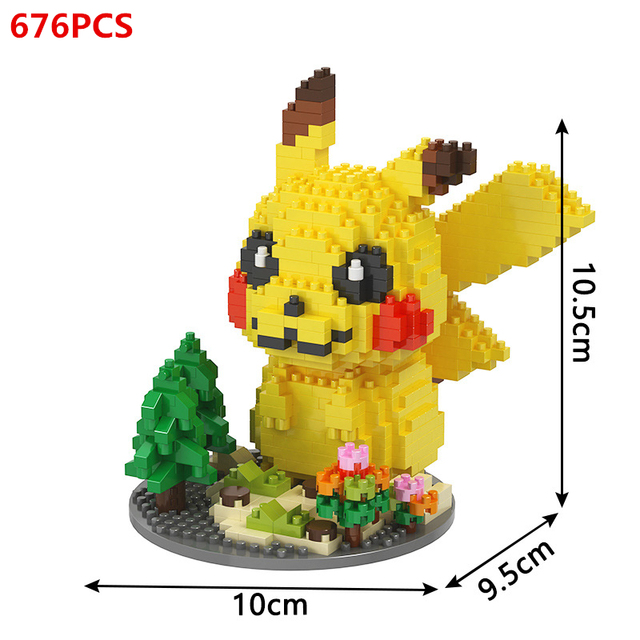 DIY mini ideas Anime Pokemon Detective Pikachu Elf ball Building Blocks Model Sets Bricks Classic Movie For Children Toys Gift 3