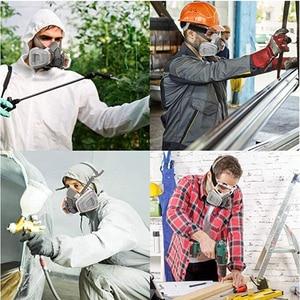 Image 5 - Demi visage respirateur masque à gaz charbon actif masque Anti poussière 6200 peinture pulvérisation soudage Anti Pollution sécurité travail Virus masque