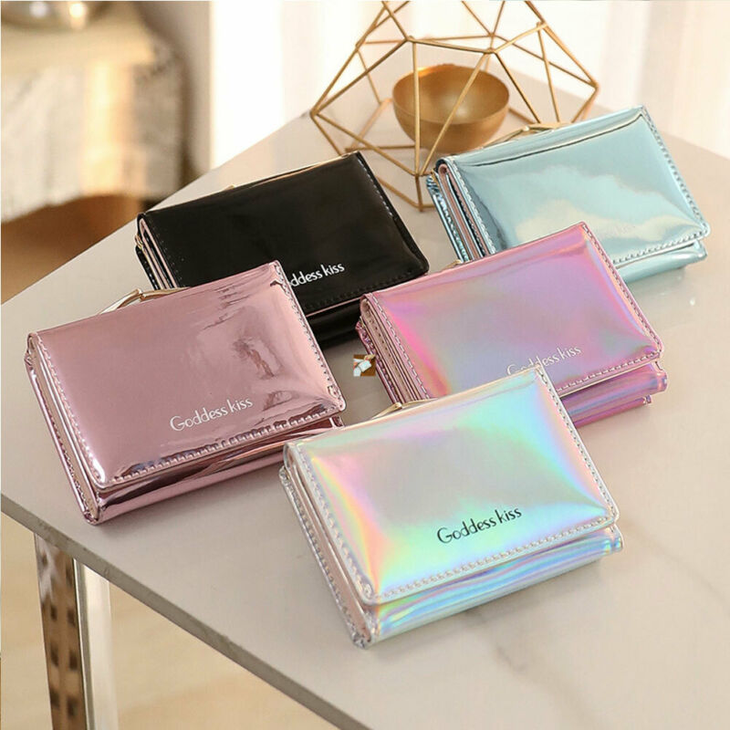 Women/'s Short Small Wallet Lady Leather Folding Coin Card Holder Money Purse