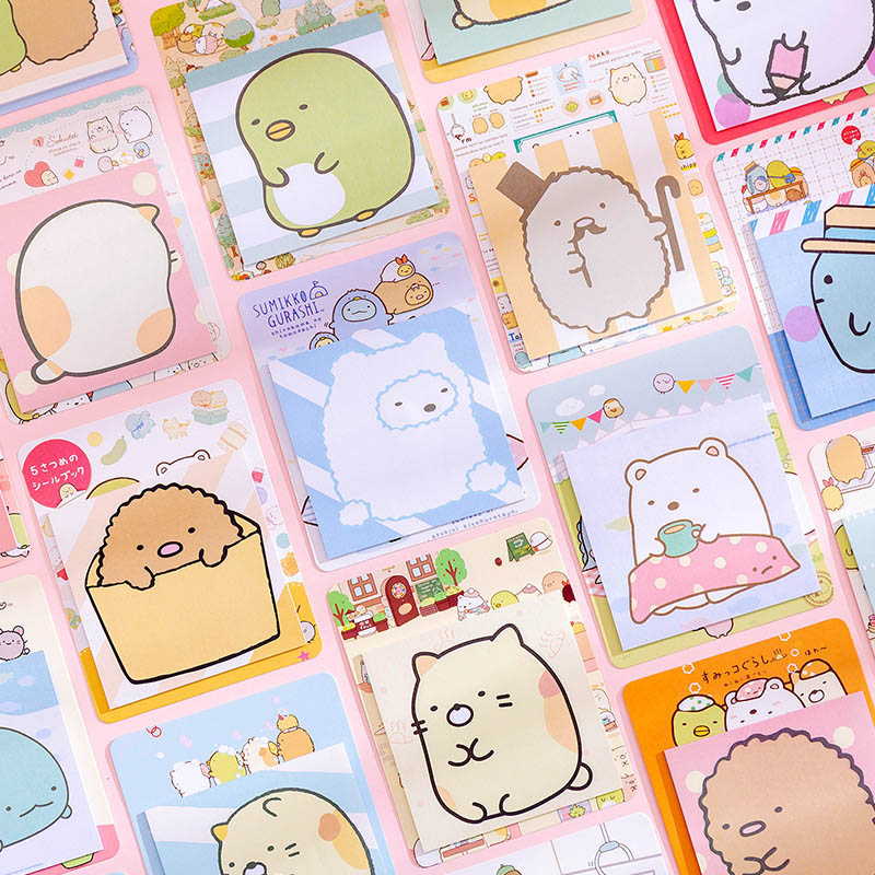 20Sheets Cute Sumikko Memo Pads Kawaii Sticky Notes Pads For Kids Girls Gifts School Office Supplies Novelty Stationery