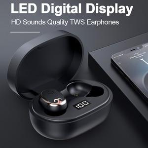 Беспроводные наушники, HD стерео, с шумоподавлением, игровая гарнитура TWS, с сенсорным управлением по отпечатку пальца, Bluetooth наушники с микро...