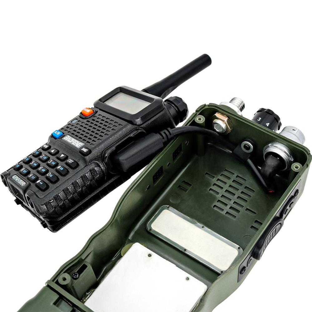 Купить с кэшбэком U-283/U 6 pin plug turn to kenwod socket adapter for AN/PRC 152 / PRC 148 Harris dummy radio case walkie-talkie DIY connector