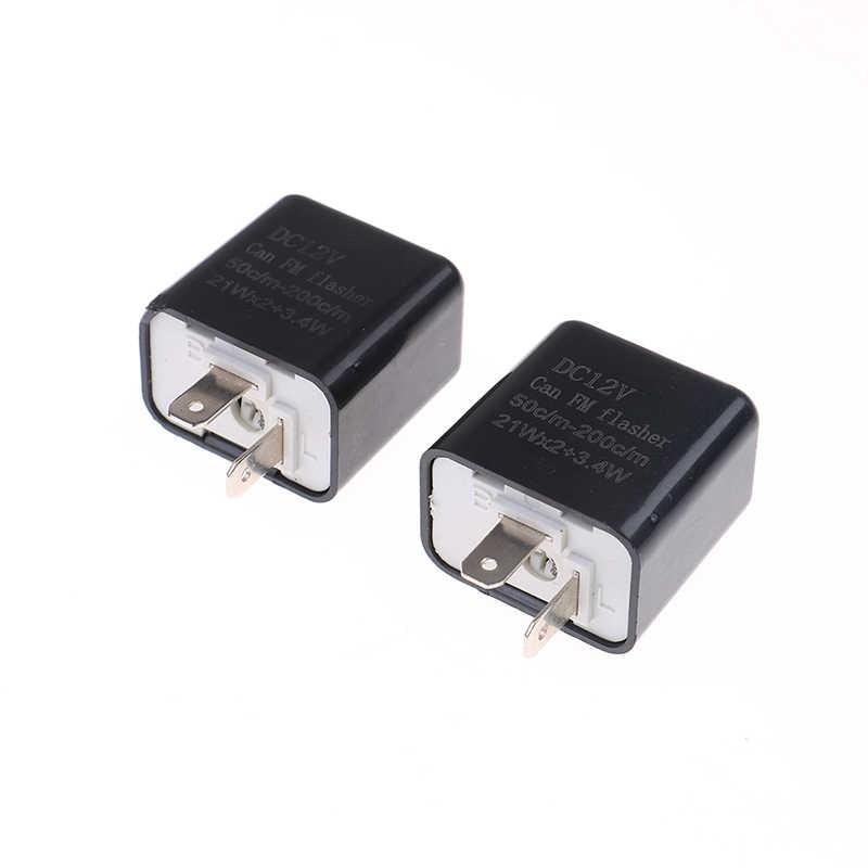 Clignotant LED carré à fréquence réglable universelle clignotant moto LED lumières clignotant indicateur 12V Flash relais