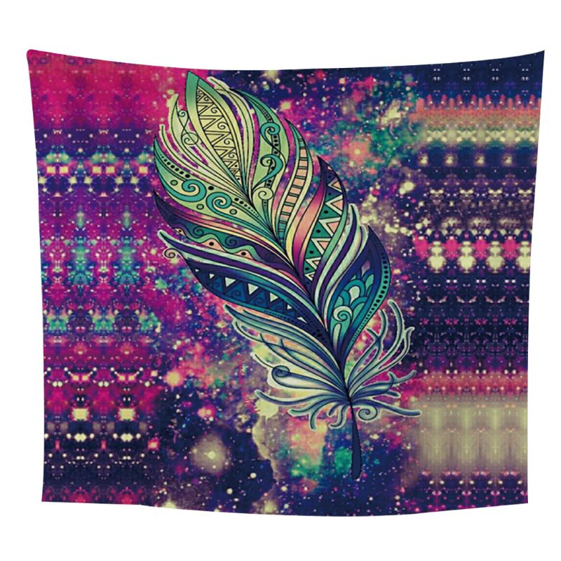 Bohemian Colorful Feather Tapestry Boho Beach Throw Dorm Room Wall Hangings