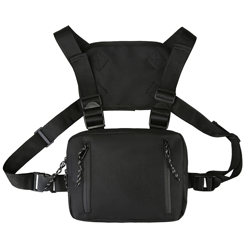 Tactical Chest Bags For Men New Trend Motorcycle Function Chest Rig Bags For Women Casual Travel Waist Pack Male Hip Hop Pocket