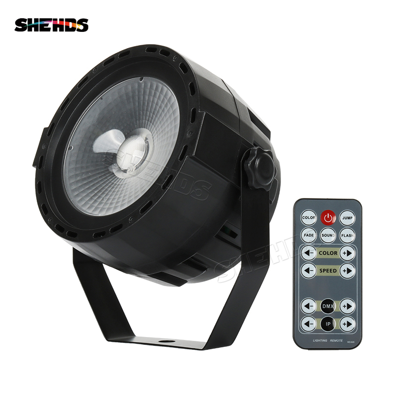 SHEHDS Wireless Remote LED Par COB 30W RGB DMX512 Stage Effect Light Lighting Design Good For DJ Disco Party Wedding Decoration