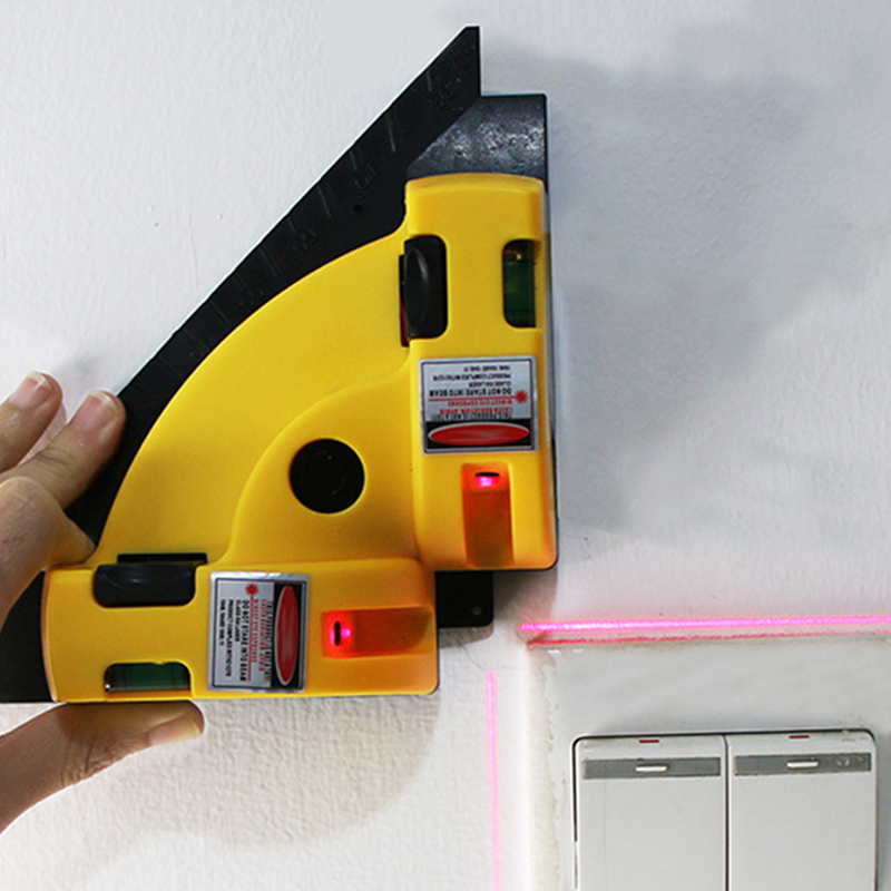 90 Degree Right Angle Vertical Horizontal Chalk Line Projection Level Tool For Floors JDH99