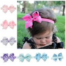 Infant Bow Headbands Girl Flower Headband Children Hair Accessories Newborn Bowknot Flower Hairbands Baby Photography Props