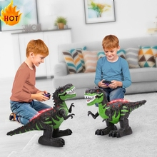 Dinosaur Toys Electric-Robot Remote-Control Walking-Animals Large Children with Sound