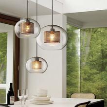 Скандинавская промышленная лампа креативный компактный стеклянный