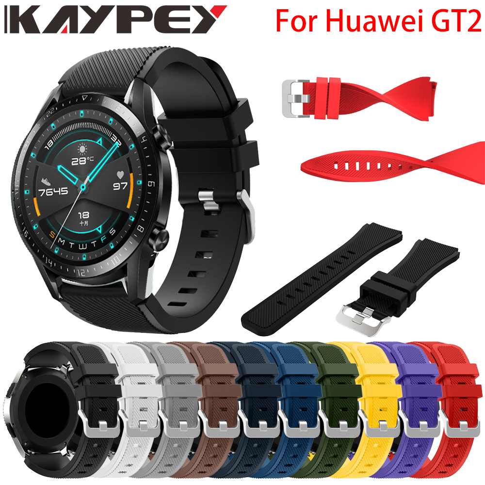 New Colorful Watch Band Strap For Huawei GT2 46MM Silicone Bracelet Wrist Band For Huawei Watch GT 2 Gt2 Bracelet Band Strap