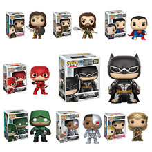 Funko Pop para as mulheres presentes Puppets Justice League The Flash Mulher Maravilha Aquaman Bruce Wayne 2019 Anime toy Kids(China)