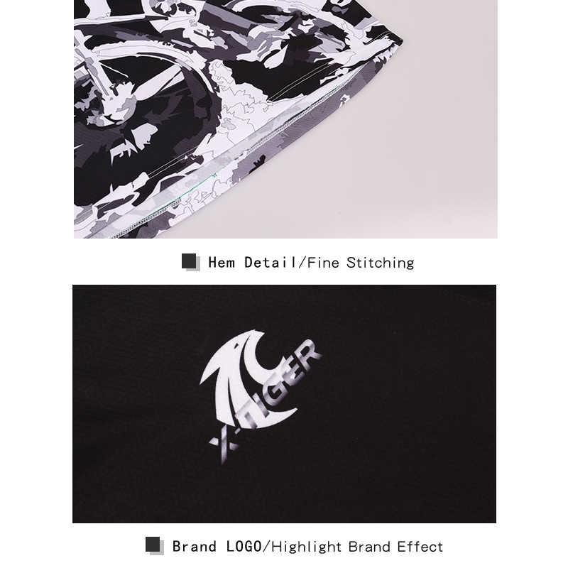 X-tiger marka z krótkim rękawem koszulki zjazdowe rower górski koszulka Motocross odzież sportowa koszulki rowerowe mężczyźni lato rower DH koszula