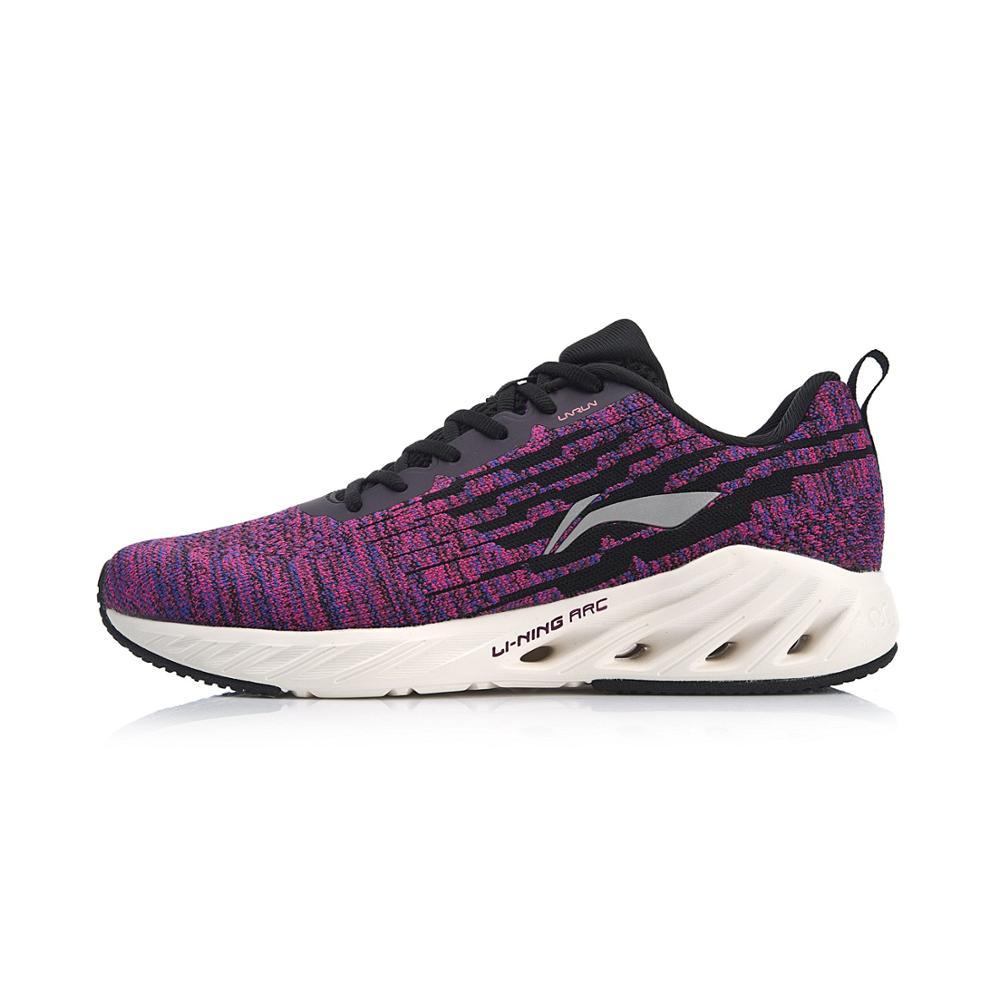 Li-Ning Women LN ARC 2018 Cushion Running Shoes Mono Yarn Breathable LiNing Li Ning Wearable Sport Shoes Sneakers ARHN102 XYP806