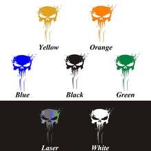 1PCS Etiqueta Do Carro Crânio Punisher Adesivo Decalque Decoração 3D 15*10CM Reflexiva Reflexiva Decal Car Styling