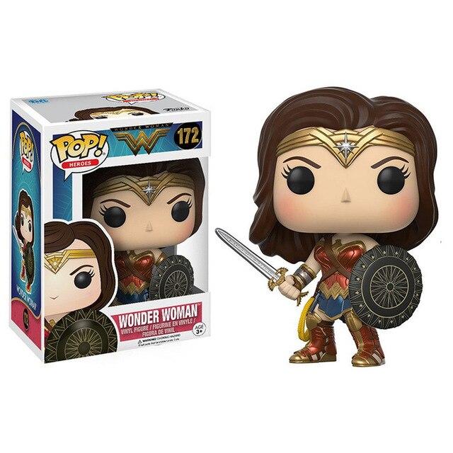 FUNKO POP Wonder Woman #226 # 172 Batman #19 #01 DC Comics Action Figure Toys Vinyl Decoration Models for Kids Birthday Gifts 2