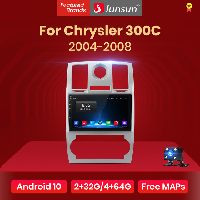 Junsun V1 pro 2G+128G Android 10 For Chrysler 300C 2004 - 2007 Car Radio Multimedia Video Player Navigation GPS 2 din dvd