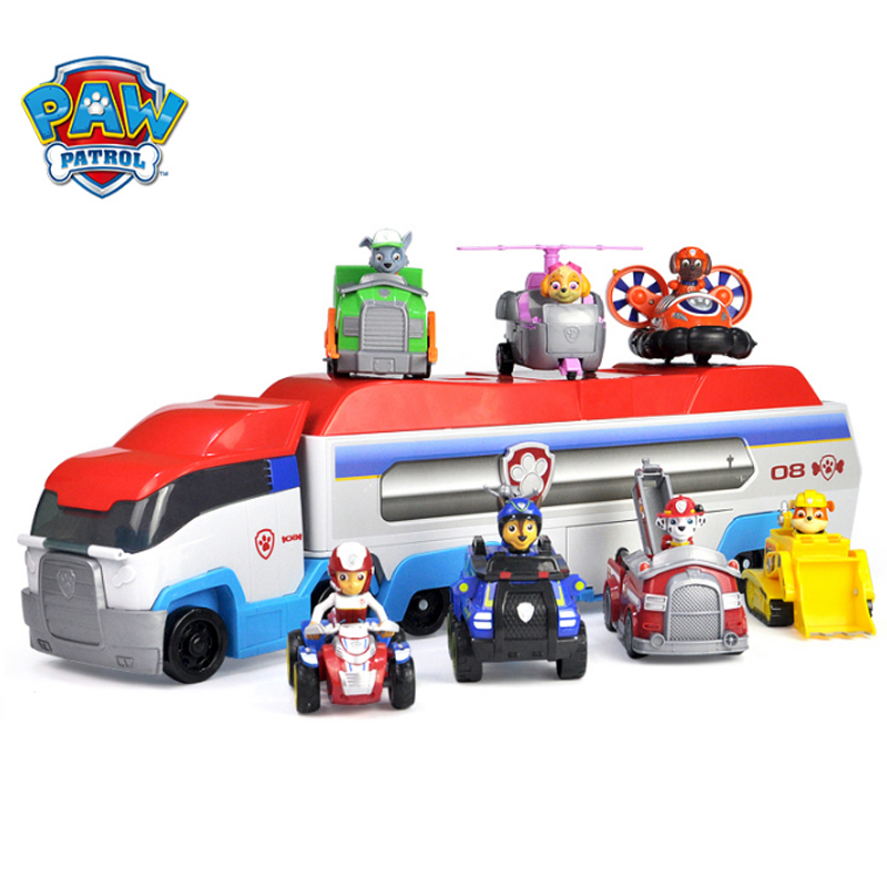 Paw Patrol Birthday toys Juguete Patrulla Canina Cartoon pull back Car Toys Set ABS Action Figures Model Toys for Child