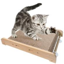 Cat Scratching Board Paper Cats Kitten Scratcher Posts Mat Wooden Pet Toys Bed Scratch Sofa Furniture Grinding Nail Scraper
