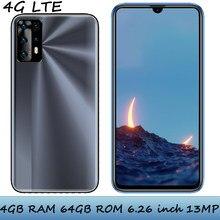 4g lte 6.26 polegadas note10 smartphones globais face id 4g ram + 64g rom 13mp telefones celulares android frente/câmera traseira celuares desbloqueado