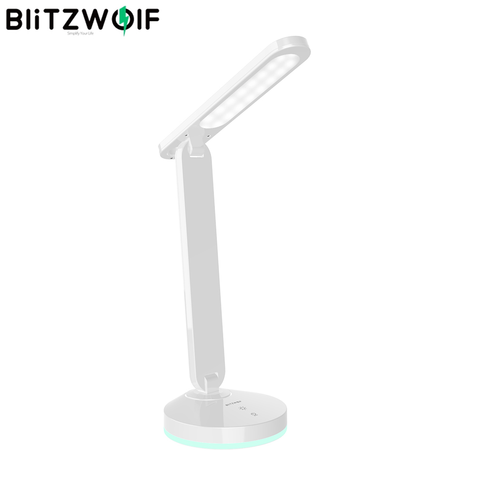BlitzWolf BW-LT16 Floding Desk Lamp With Automatic RGB Ambient Lighting Base Touch Control Stepless Dimming Table Desk Light