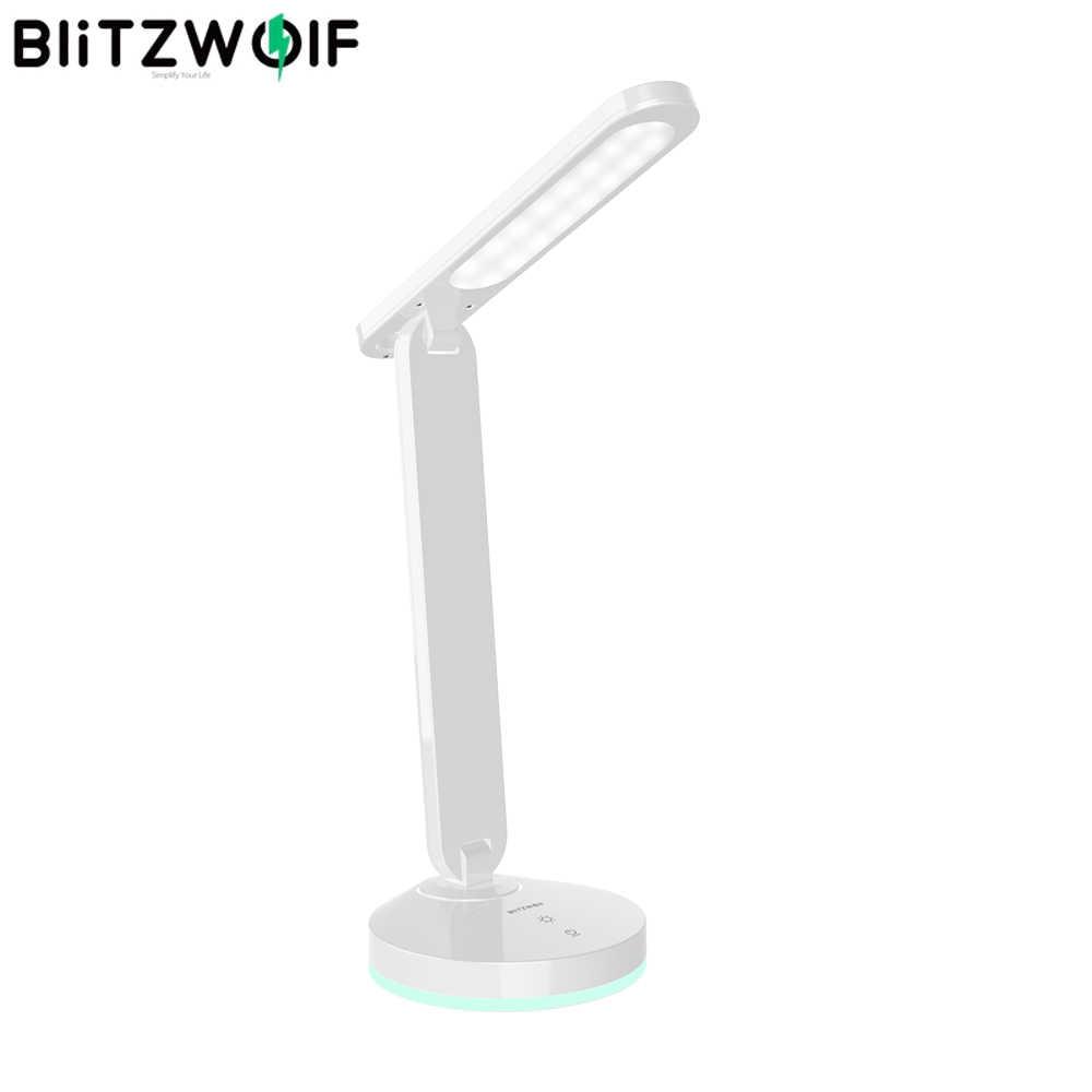 BlitzWolf BW-LT16 لمبة مكتب قابلة للطي مع التلقائي RGB الإضاءة المحيطة قاعدة التحكم باللمس ستبليس يعتم الجدول مكتب ضوء
