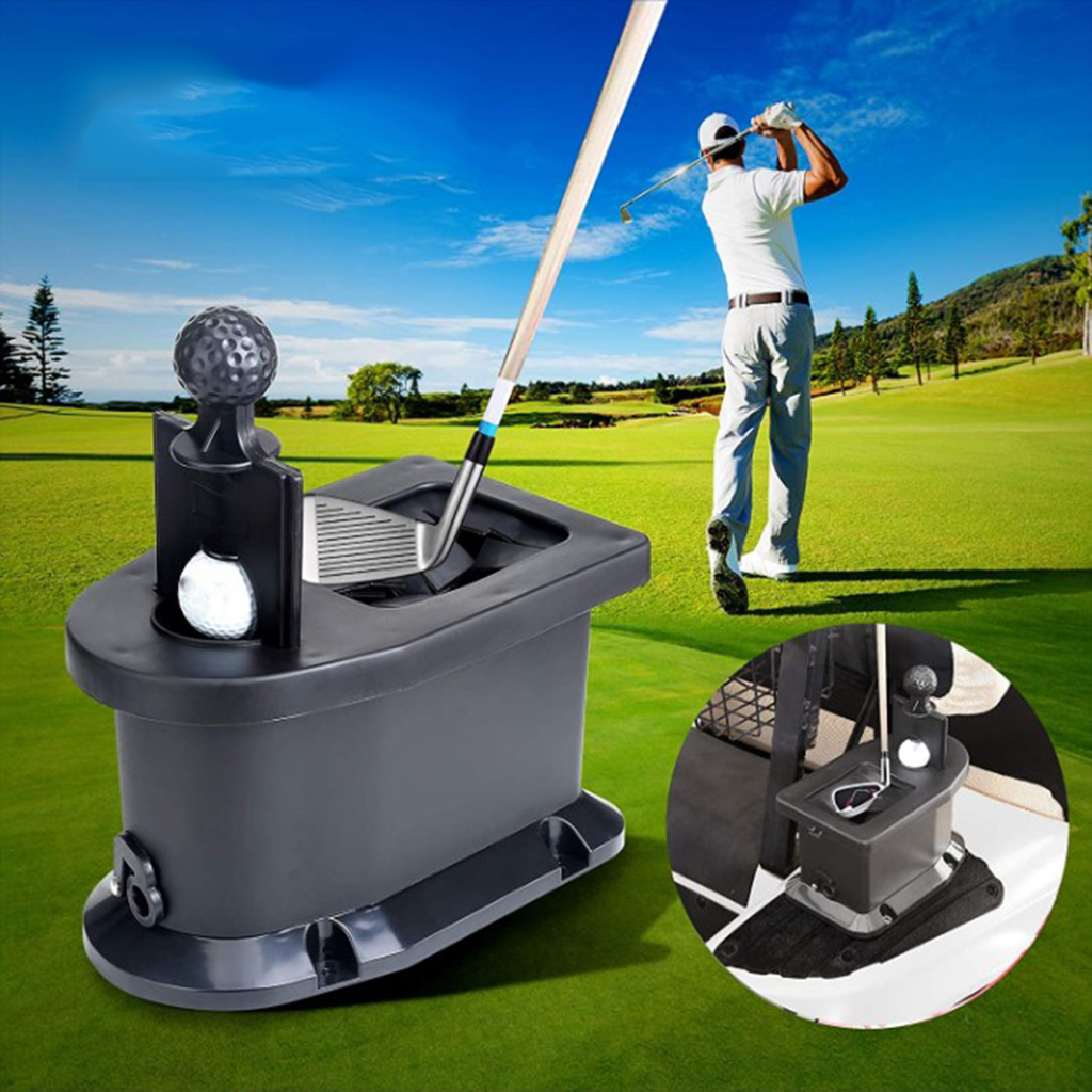 Golf Ball Golf Club Washer Shaft Groove Cleaner Golf Carts Cleaning Device Accessories Pre-drilled Mount & 2pcs Ball Pick Claws