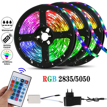 Led Strip Light 12V SMD 5050 Rgb Led Lights For Room Decor TV Backlight Leds Lighting Flexible Ribbon Diode Tape With Control