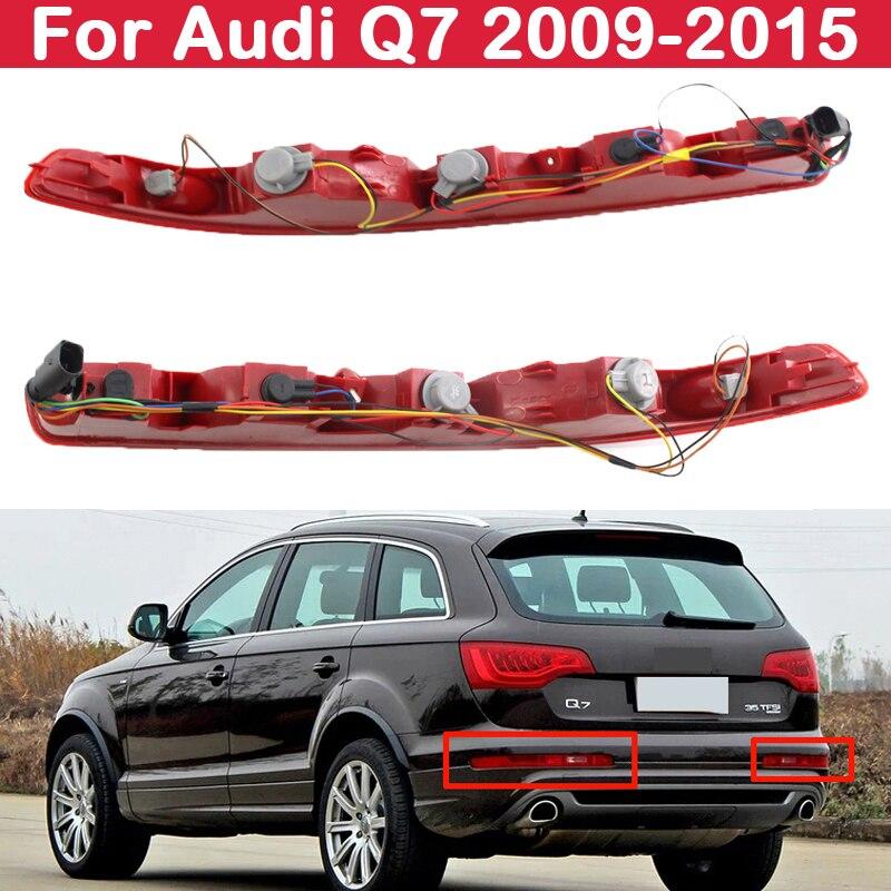 Faros antiniebla para AUDI Q7 2009-2015, luces halógenas de freno, parachoques trasero, lateral inferior, Auto, 4 & 5 agujeros