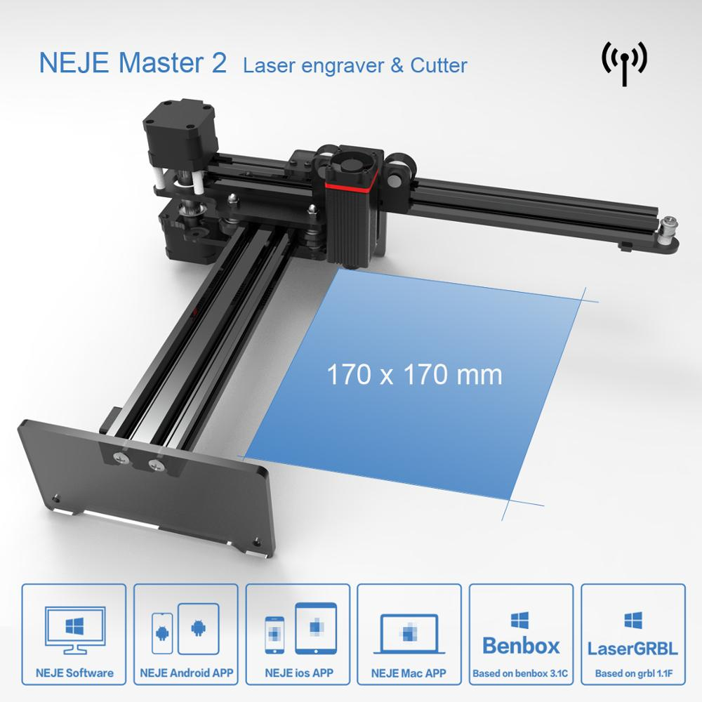 NEJE Master2 7W High Speed Mini CNC Laser Engraver with Wireless APP Control - Benbox - GRBL1 1f - LaserGRBL- MEMS Protection