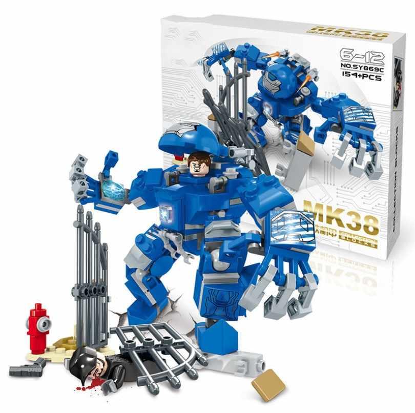Senbao SY869 Iron-Maned MK15 MK17 MK38 MK39 Anti-Hulk Mech Robot Building Blocks Marvel Building Blocks DIY