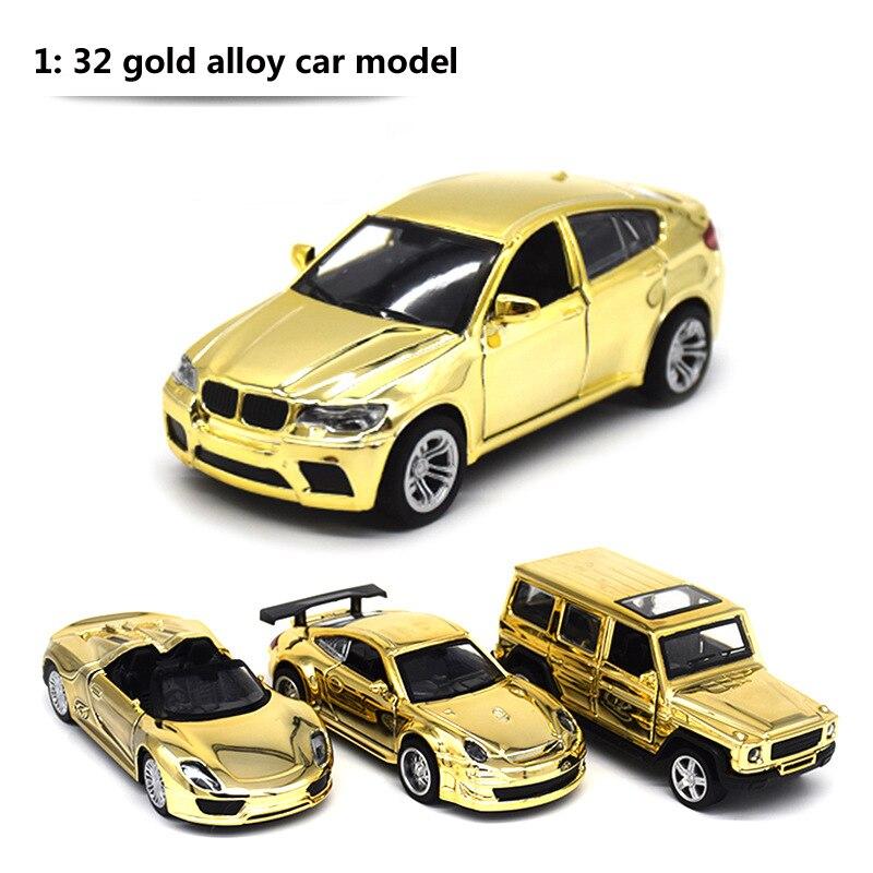 1:32 liga de ouro modelo de carro brinquedo das crianças simulação retorno força cross country fora de estrada crianças jogar brinquedos presente das crianças