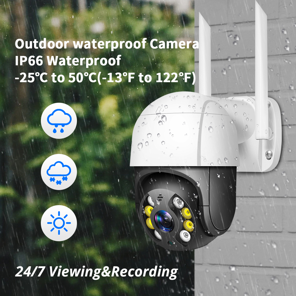 1080P Outdoor Speed Dome Wifi IP Camera 2MP H.265 Audio PTZ Wireless Camera Cloud-SD Slot ONVIF Security CCTV Camera