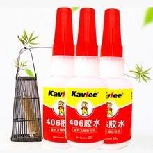 Высокая вязкость клей высокая производительность и быстрое высыхание Resina Epoxi прозрачный канцелярский клей 406 супер клей