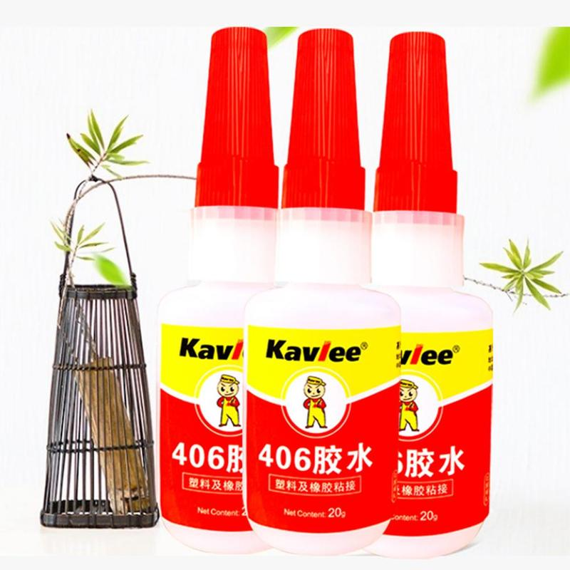 High Viscosity Glue High Performance And Quick Drying Resina Epoxi Transparente Office Stationery Glue 406 Super Glue